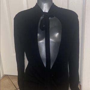 Bebe tie open back sweater